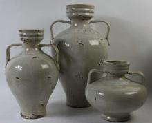 MID-CENTURY MODERN POTTERY / OLIVE POT GROUPING
