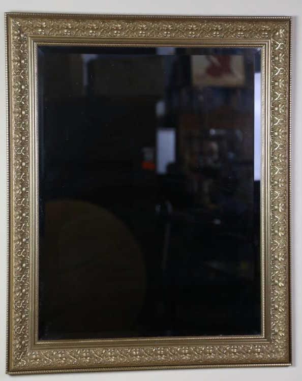 Gilt framed beveled custom mirror for Custom framed mirrors