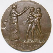 NORMAN ROSS 1919 INTERALLIED GAMES 1ST SWIM MEDAL