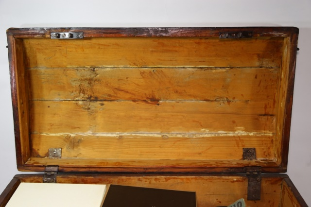 Antique seamans dome top dovetailed trunk for Seamans furniture