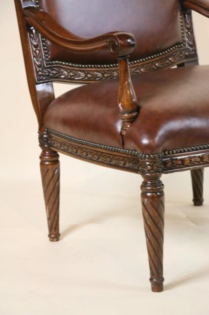 bevan funnel mahogany leather chair
