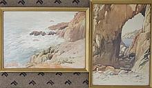 Arthur Bassett Waller (British, 1882-1974) watercolours, signed