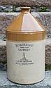 A Doulton Lambeth two tone stoneware flagon, of Channel Islands interest
