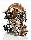 A GOOD 12-BOLT COPPER & BRASS DIVING HELMET BY SIEBE GORMAN & CO. LTD