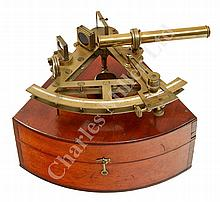 A 7IN. RADIUS DOUBLE-FRAMED SEXTANT BY J.B. DANCER, MANCHESTER, CIRCA 1850