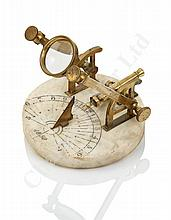 A NOON DAY CANNON DIAL, PROBABLY FRENCH, CIRCA 1880