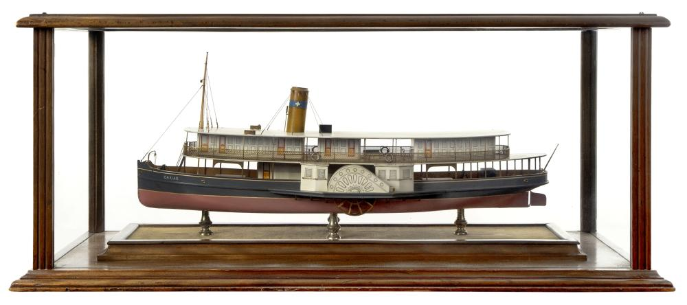 A BUILDER'S MODEL FOR THE BRAZILIAN PASSENGER PADDLE STEAMER CAXIAS BUILT BY HEPPLE, SOUTH SHIELDS, 1912