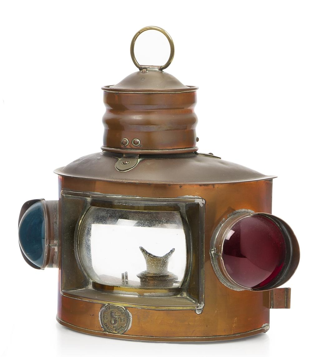 A PORT & STARBOARD BOW LAMP, CIRCA 1890