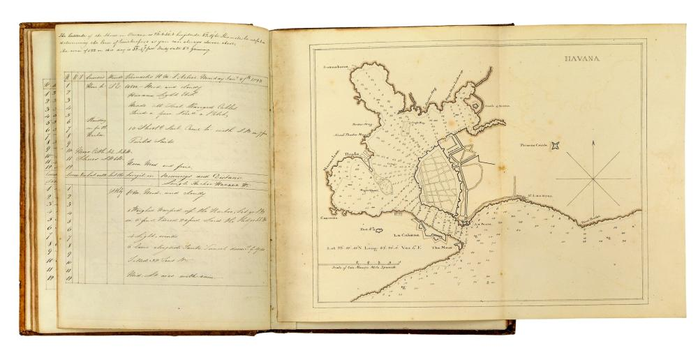 A LOGBOOK FOR H.M.S. ACTIVE BY JOHN JAMES ALLEN, RN, 12 NOVEMBER 1822 TO AUGUST 1824