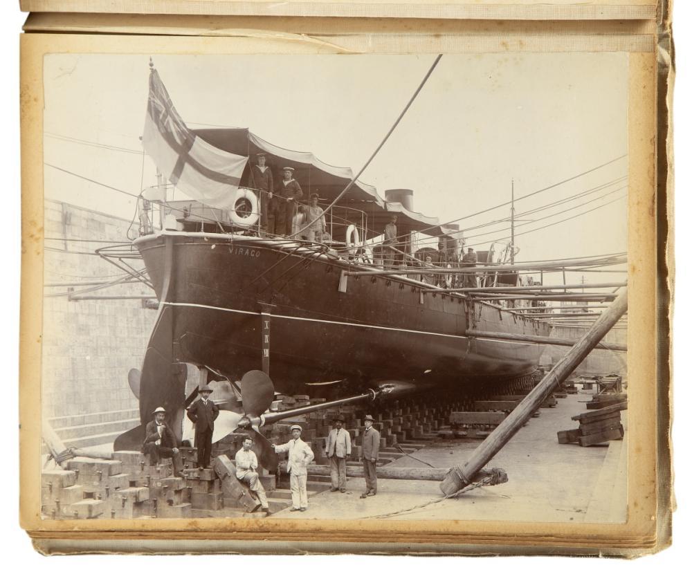 A NAVAL PHOTOGRAPH ALBUM 1898-1903