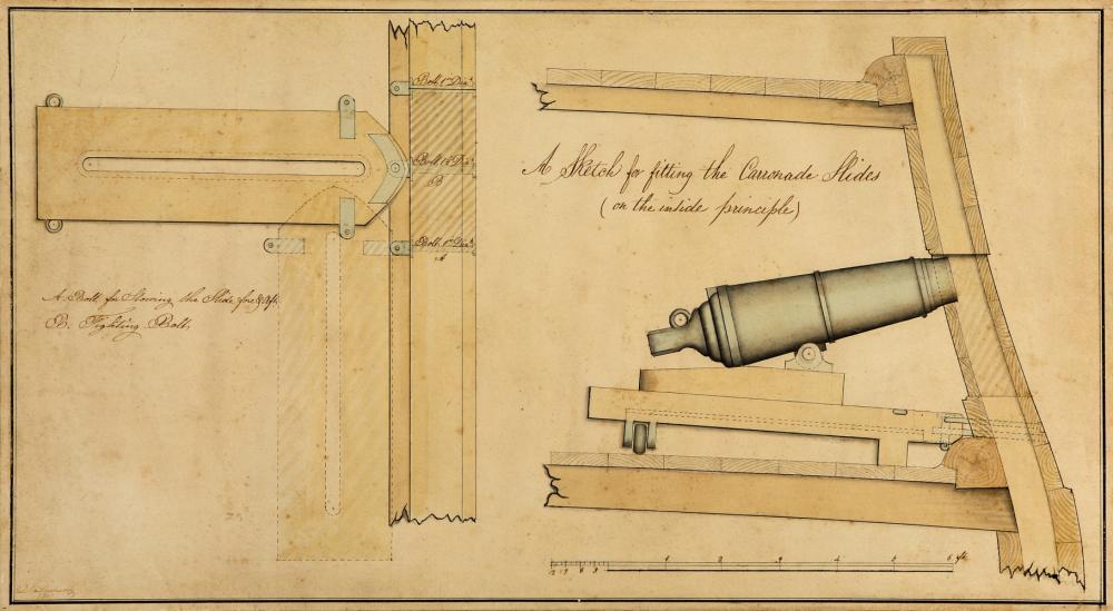 A TECHNICAL PROFILE PLAN FOR A CARRONADE, 1851