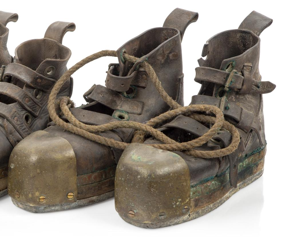 A GOOD PAIR OF DIVING BOOTS, PROBABLY BY SIEBE GORMAN