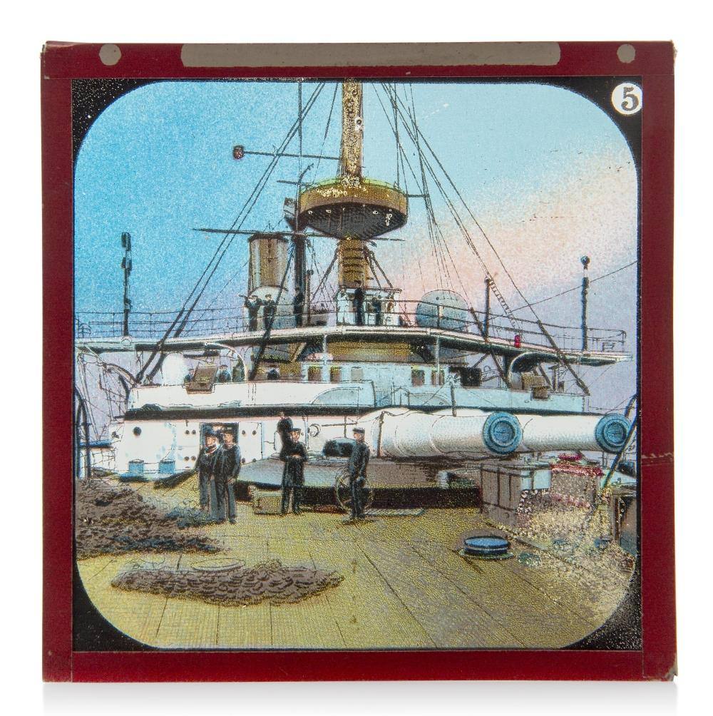 AN INTERESTING COLLECTION OF 3IN. NAVAL MAGIC LANTERN SLIDES, CIRCA 1890 AND LATER