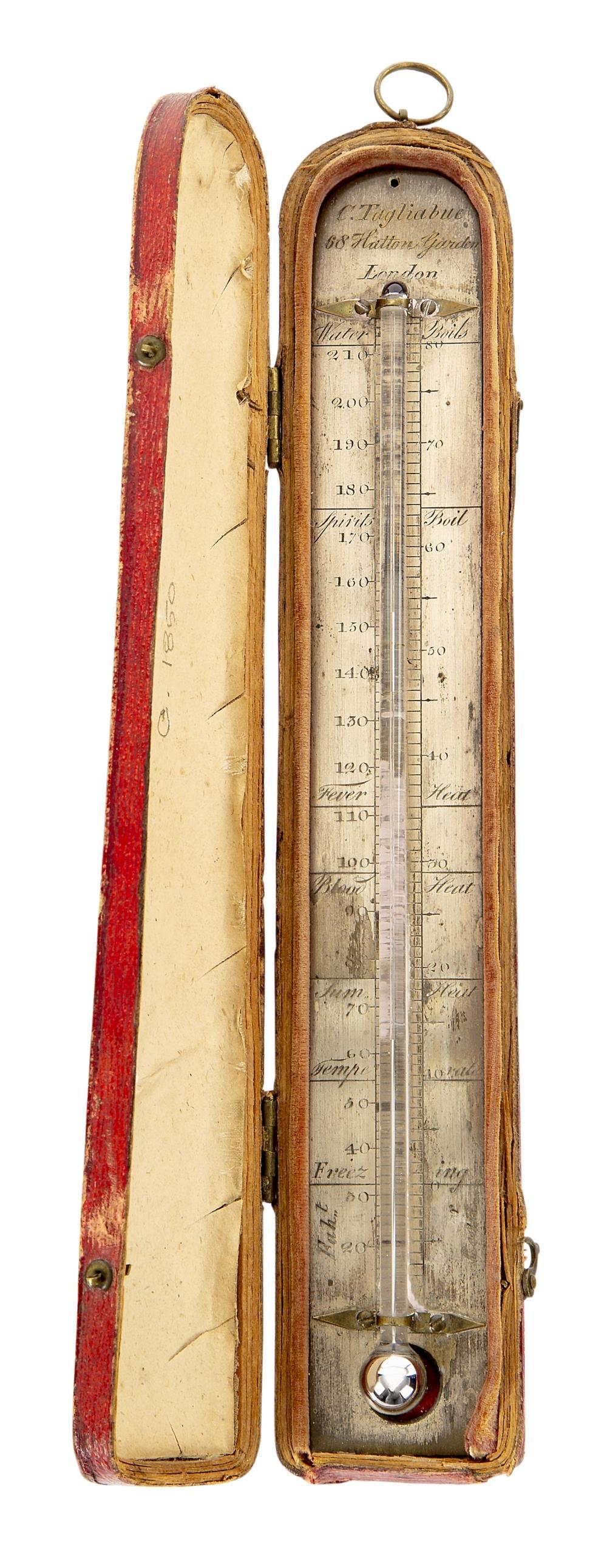 A RARE PORTABLE THERMOMETER BY C. TAGLIABUE, LONDON, CIRCA 1820