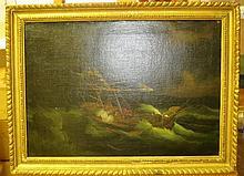 FOLLOWER OF JAMES EDWARD BUTTERSWORTH (1817-1894)  A merchantman about