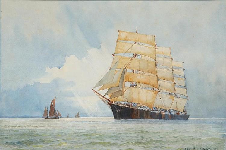 ERIC H. CRADDY (BRITISH, BORN 1913) A three-masted