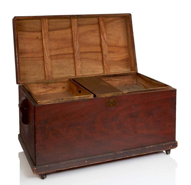 A large seaman 39 s chest for Seamans furniture