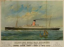 AN ALLAN LINE POSTER FOR THE S.S. VIRGINIAN, CIRCA 1905