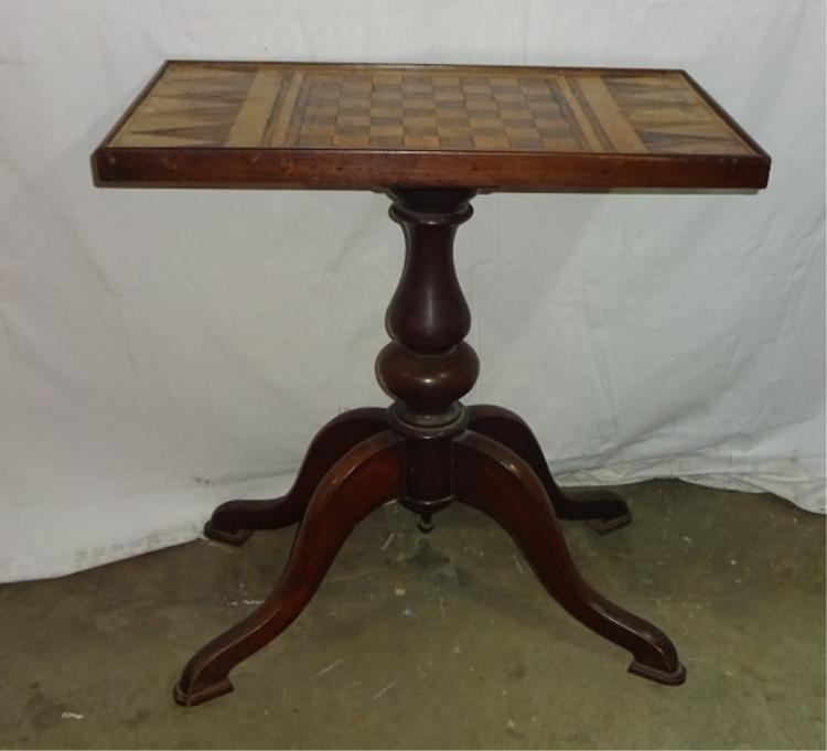 19th Century Parquet Game Table