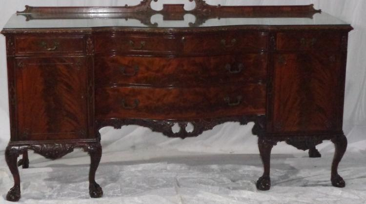 Antique Batesville Cabinet Co Hand Carved Side Bd