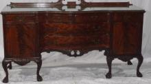 Antique Batesville Cabinet Co Hand Carved Side Bd