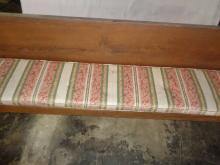 Antique Pine Church Bench
