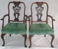 Batesville Cabinet Co Hand Carved Mahogany Chairs
