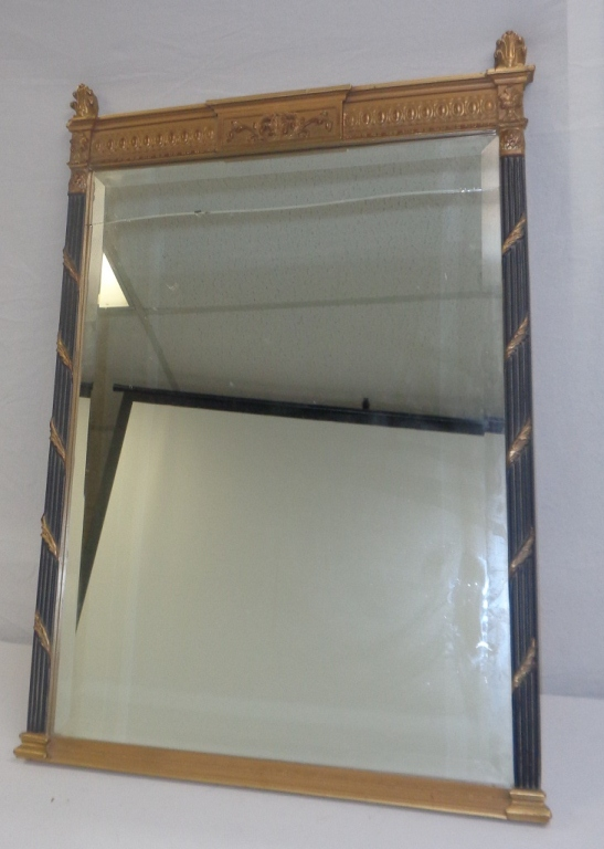 Black & Gold Frame Mirror