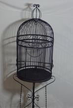 Black Metal Bird Cage