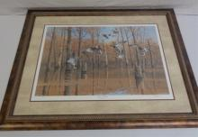 Framed Print Of Ducks Flying