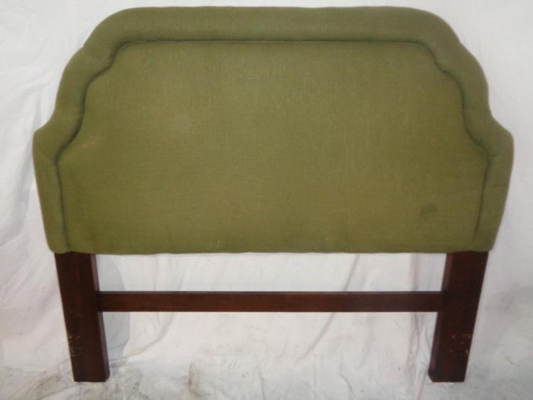 Green Upholstery Queen Headboard