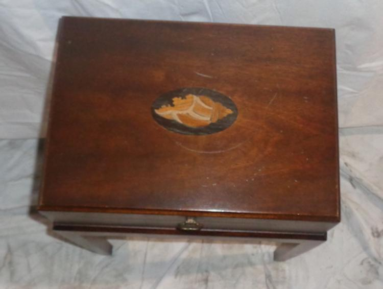 Mahogany Side Chest With Inlay