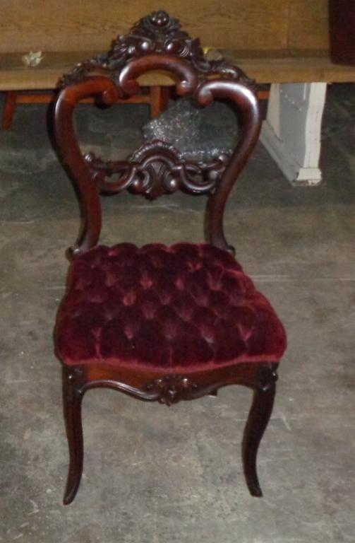 Mahogany Victorian Parlor Chair