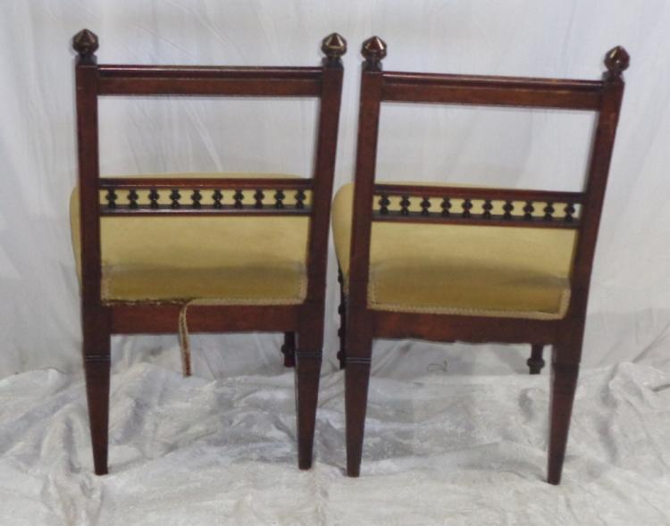 Pair Antique Walnut Chairs