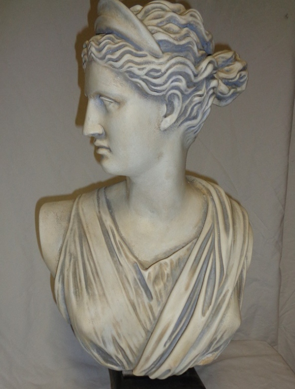 Plaster Bust Of Woman On Stand