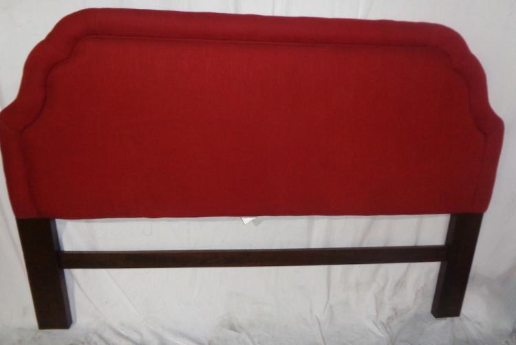 Red Upholstery Queen Headboard