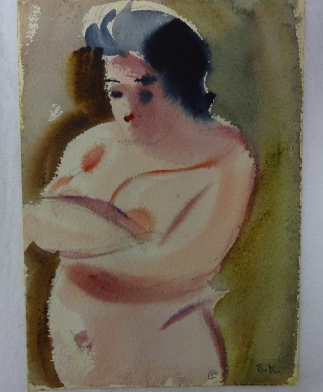 Sally Frost Knerr Original W/c Female Nude