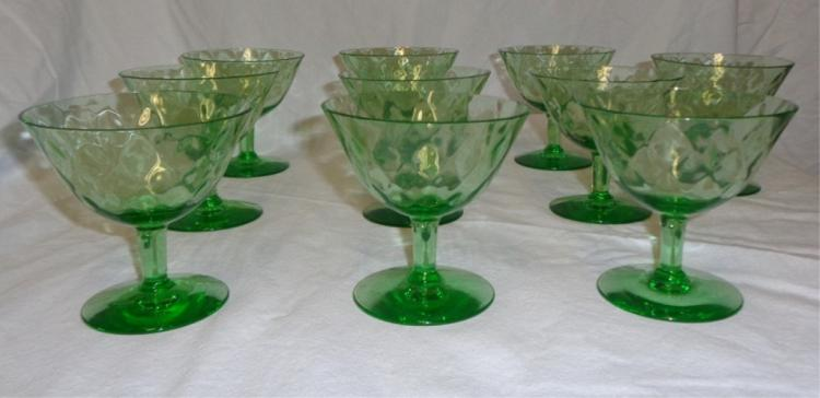 Set Of 10 Magnolia Green Ice Cream Cups