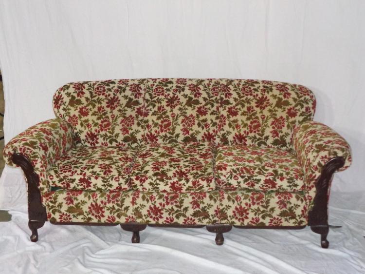 Small Empire Sofa With Custom Upholstery