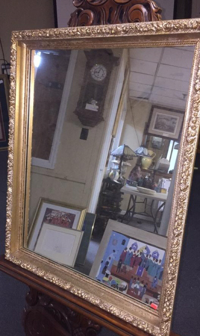 Wood And Plaster Or Gold Guilt Mirror