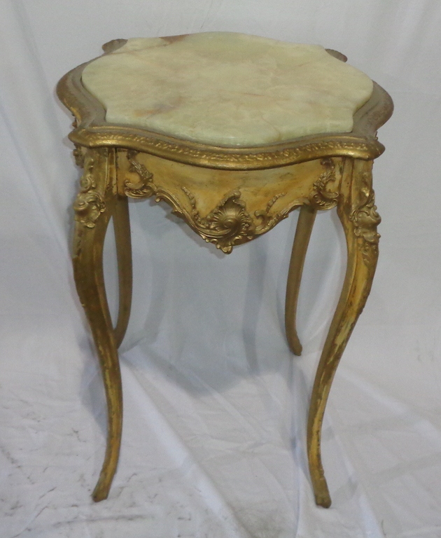 Marble Top French Side Table