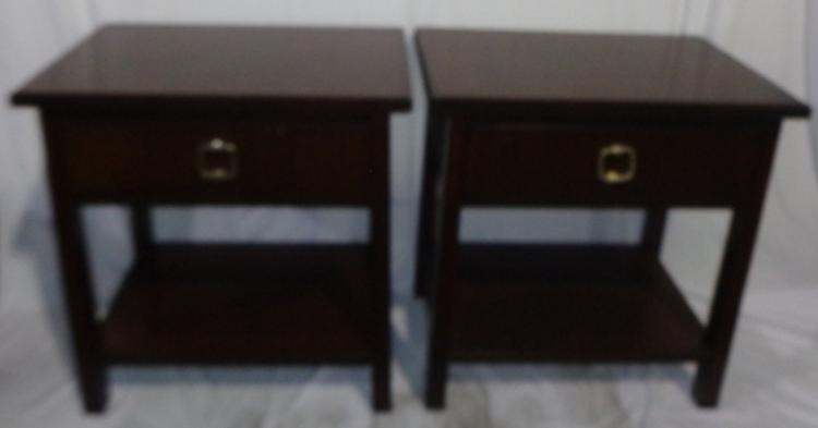 PAIR OF ESPRESSO BEDSIDE TABLES