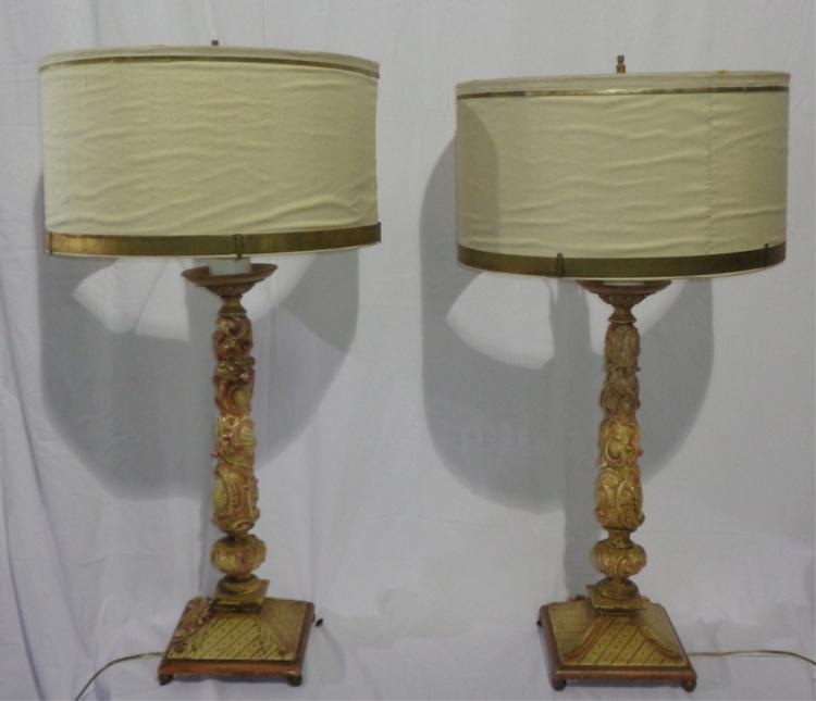Venetian Candlestick Lamps