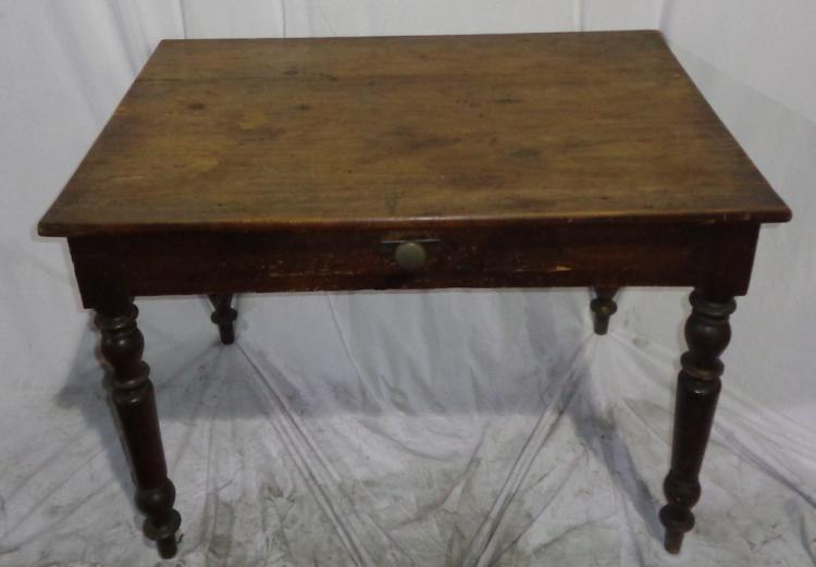 Antique French Table With Drawer