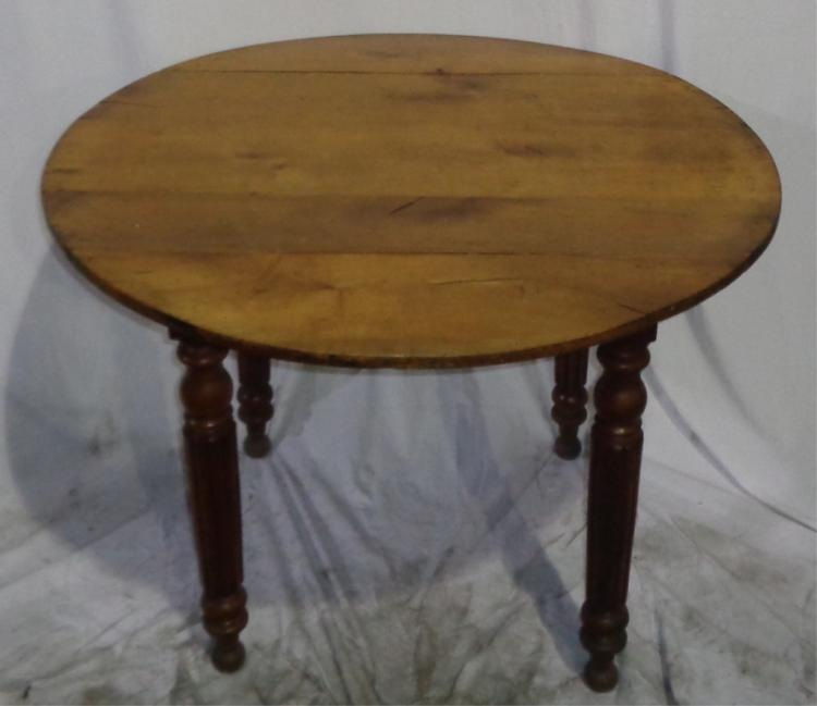 Small Antique French Round Table