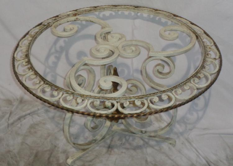 Beautiful Vintage French Metal Garden Table