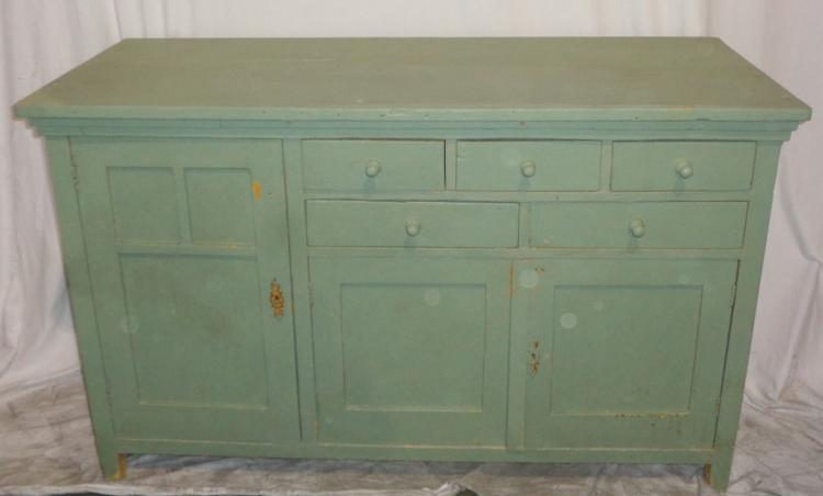 Antique Sea Green Buffet