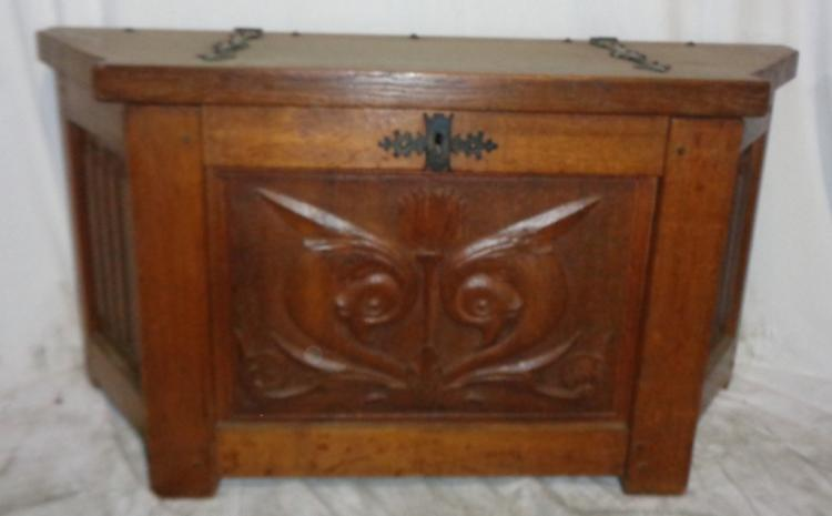 Carved French Breton Chest