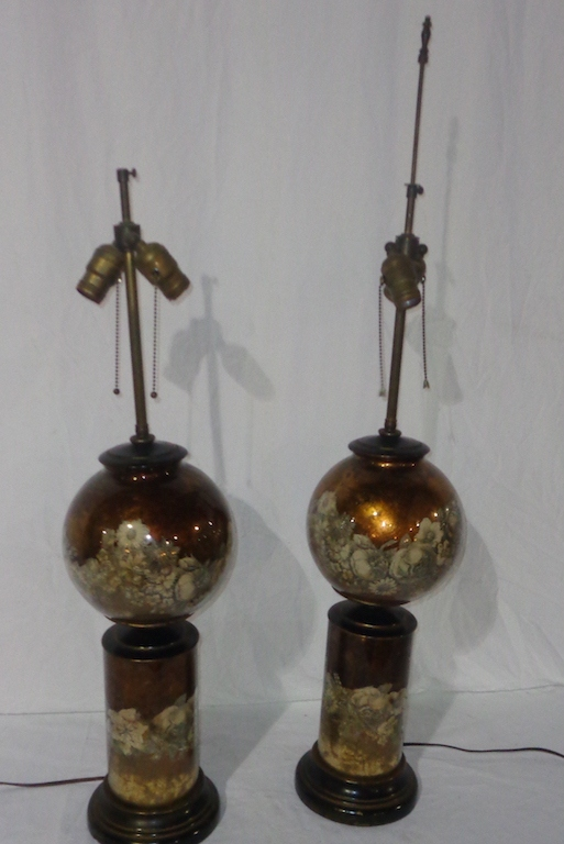 Antique Cooper Glass Lamps
