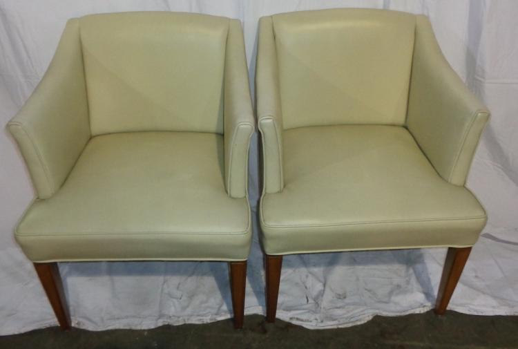 Pair Of Off White Club Chairs